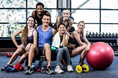 Plakat Smiling fitness klasy stanowiące razem