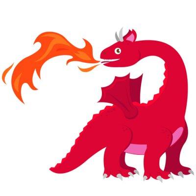 Plakat Smok pożarniczy smok