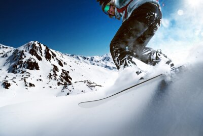 Plakat Snowboarder zjazd