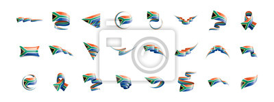 Plakat south africa flag, vector illustration on a white background