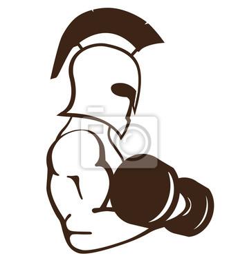 spartan sportowiec ilustracji