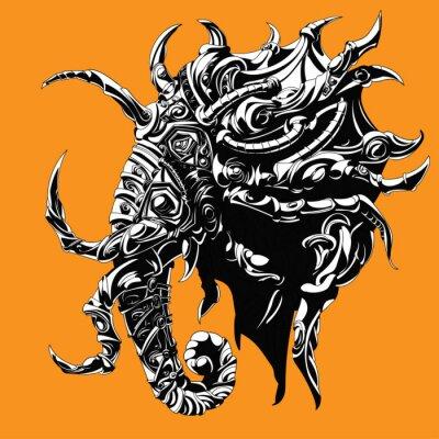 spokojna słonia w ciężkich zbrojach symbolizing kawałek szachy