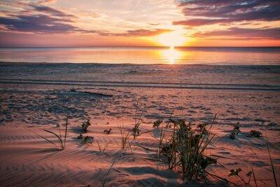 Plakat Spokojny wieczór na plaży