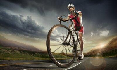 Plakat Sport. Rowerzysta drogowego.