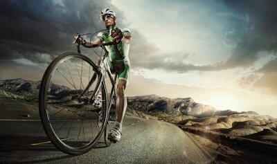Plakat Sport. Rowerzysta drogowego