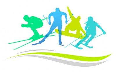 Plakat Sporty zimowe - 2