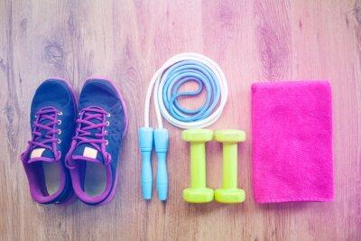 Plakat sprzęt fitness