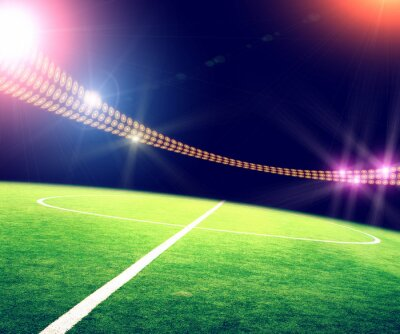 Plakat stadium in lights and flashes