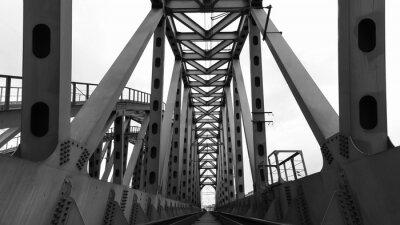 Plakat stalowej mostu kolejowego