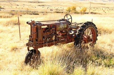 Plakat Stare ciągnika