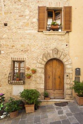 Plakat Stare miasto Montepulciano w Toskanii
