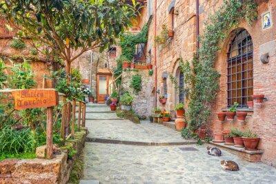 Plakat Stare miasto Toskania Włochy