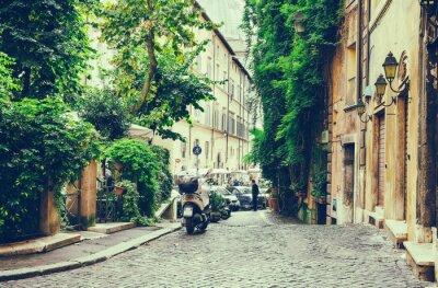 Plakat Stary dziedziniec w Rzymie
