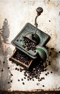 Plakat Stary młynek do kawy