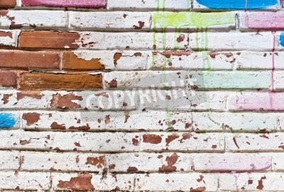 Plakat Stary mur wypełnić graffiti