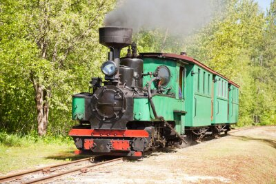 Plakat Stary parowóz pociągu
