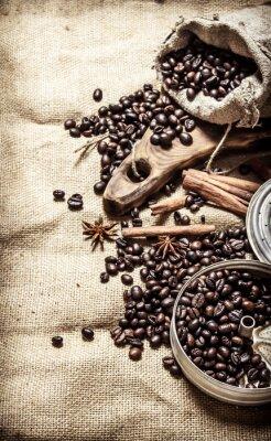 Plakat Stary styl kawy.