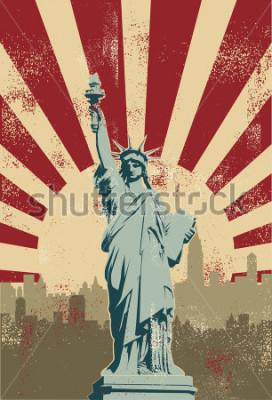 Plakat Statue of Liberty, New York City, vector