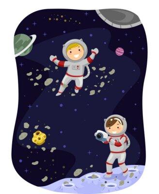 Plakat Stickman Kids Outer Space zdjęcie