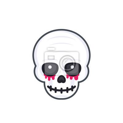 Straszna czaszka na białym