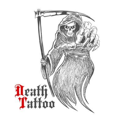 Straszne Grim Reaper z kosą