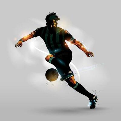 Plakat Streszczenie działa z piłki nożnej