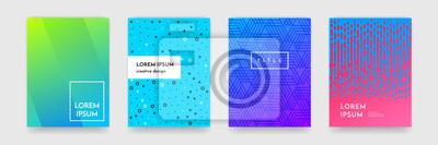 Plakat Streszczenie gradient kolor deseń tekstury dla książki okładka szablonu wektora zestawu