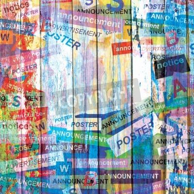 Plakat Streszczenie grunge