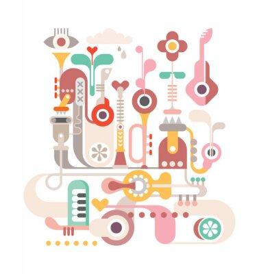 Plakat Streszczenie Muzyka