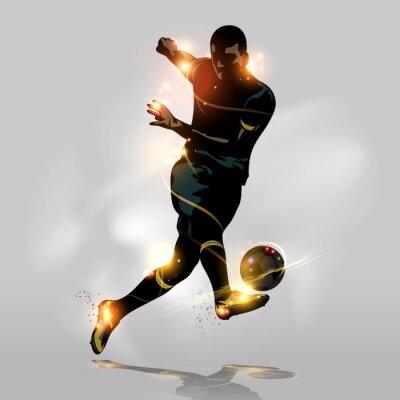 Plakat Streszczenie nożnej szybkie strzelanie