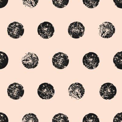 Plakat Streszczenie okrągłe kształty bez szwu deseń