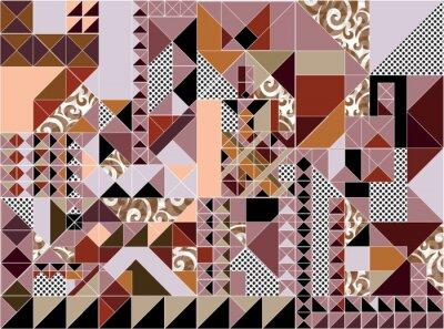 Streszczenie Pattern - trójkąt i kwadrat wzór