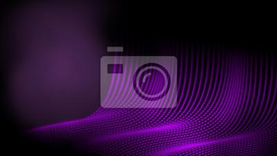 Streszczenie technologia kropka drutu rama wielokąt geometrii tła w fioletowy kolor tematu. Dawanie uczucia w jaskini
