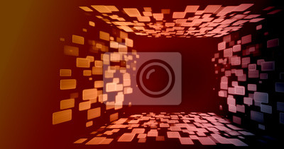 Streszczenie tunelu kwadratowych 4 strony perspektywy tło. Z miejsca kopiowania tekstu, logo, ikony, produktów