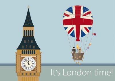 Plakat Stylowe rysunki Londyn
