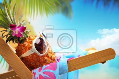 Plakat summer vacation on beach