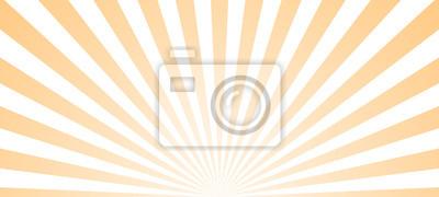 Plakat Sun ray retro background vector burst light. Sunrise or sunset retro design