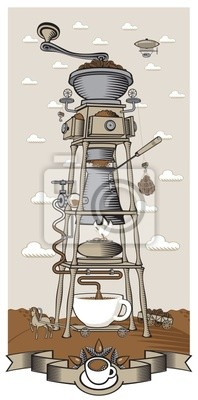 surrealistyczne coffee plant