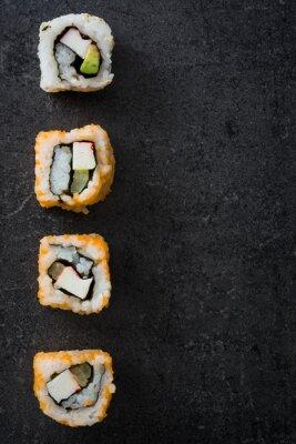 Plakat Sushi. japońskie jedzenie