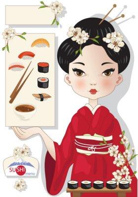 Plakat Sushi Menu