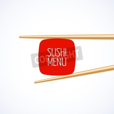 Plakat Sushi Menu szablon okładki