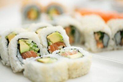 Plakat Sushi pałeczkami Płyta
