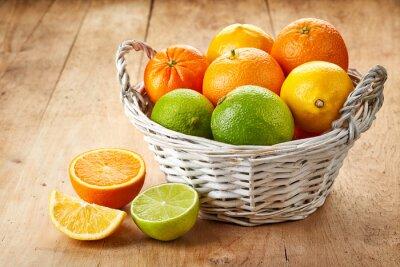 Plakat Świeże owoce cytrusowe