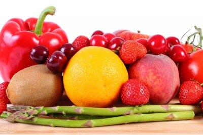 Plakat Świeże owoce i warzywa, zdrowe odżywianie