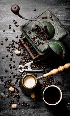 Plakat Świeże parzonej kawy puli