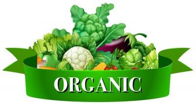 Plakat Świeże warzywa z szyldem