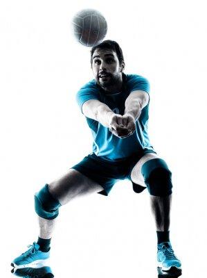Plakat sylwetka człowieka siatkówka