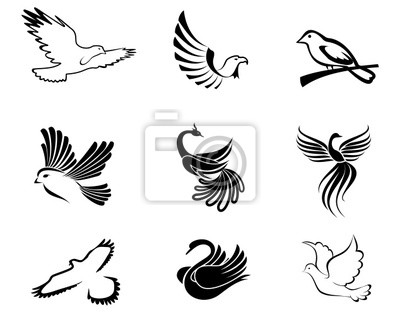 Symbole ptaków