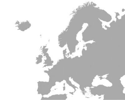 Plakat Szczegółowa mapa Europy