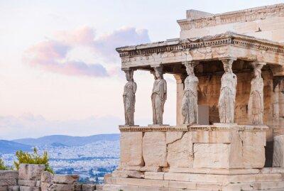 Plakat Szczegółowo Erechtheion na Akropol w Atenach, Grecja